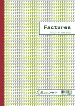 Exacompta facturen, ft 29,7 x 21 cm, tripli, Franstalig