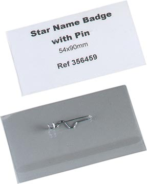 STAR badge met speld ft 54 x 90 mm