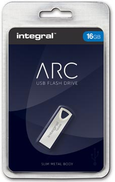 Integral ARC USB stick 2.0, 16 GB, zilver