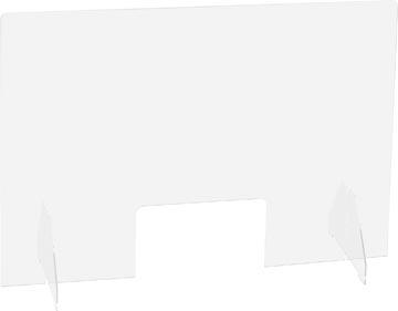 Exascreen beschermwand voor adem/sputum, glashelder, staand, ft 90 x 65 cm