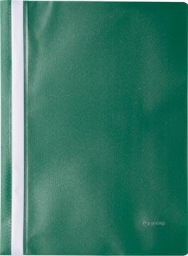 Pergamy snelhechtmap, ft A4, PP, pak van 25 stuks, groen