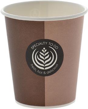 Drinkbeker Coffee To Go, uit karton, 200 ml, diameter 80 mm, pak van 80 stuks