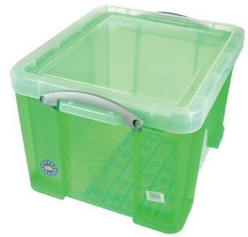 Really Useful Box opbergdoos 35 liter, transparant groen