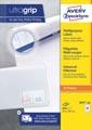 Avery Zweckform 3651-2, Universele etiketten, Ultragrip, wit, 200 vel, 40 per vel, ft 52,5 x 29,7 mm